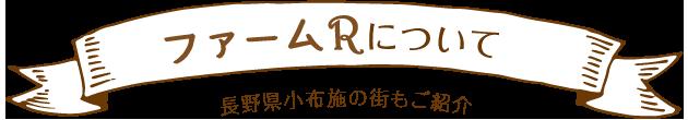 ファームRについて 長野県小布施の街もご紹介